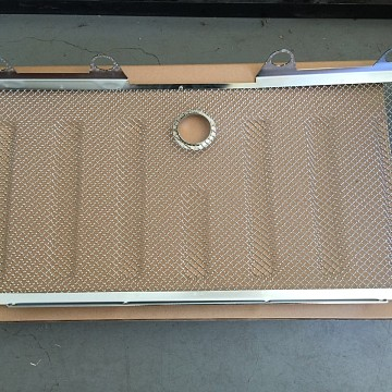 Image of a Jeep Wrangler   3D Chrome Grill Mesh Insert With Lock Hole Fit OEM Grille