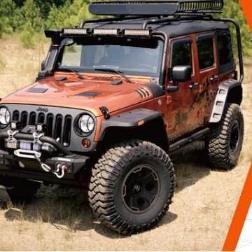 Image of a Jeep Wrangler Bonnets RR Style Steel Heat Reduction Bonnet