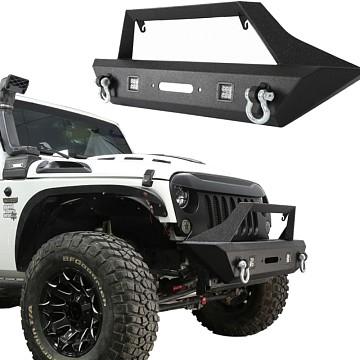 Image of a Jeep Wrangler Body Armor Avenger Style Front Bull Bar