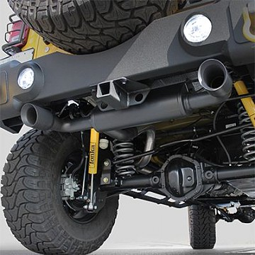 "Image of a Jeep Wrangler  Accessories MagnaFlow ""Black Series"" Style Stainless Dual Exhaust Muffler System"