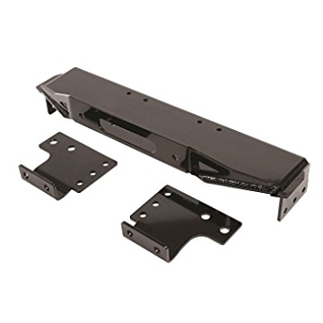 Image of a Jeep Wrangler Brackets Raised Winch Mounting Steel Plate for Factory Bumper