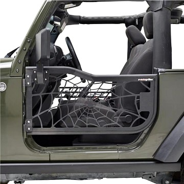 Image of a Jeep Wrangler  2-Door Spider Net Tubular Doors with Mirrors (Set of 2)