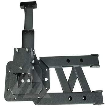 Image of a Jeep Wrangler Rear Bar Tubular Style Rear Spare Wheel Carrier