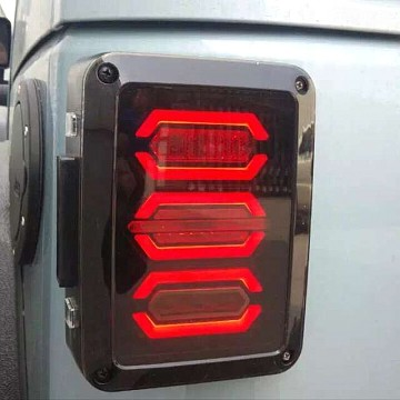 Image of a Jeep Wrangler Lights And Mirrors  Pair LED Tail lights Rear Turning Break Light 0121