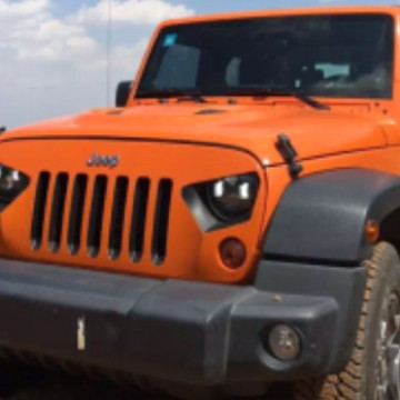 Image of a Jeep Wrangler  Transformer Style Angry Grille Matte Black