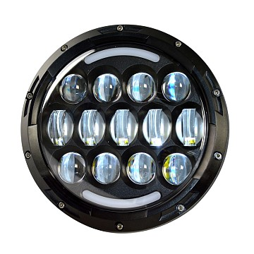 Image of a Jeep Wrangler Lights And Mirrors 0507 style 7 inch LED Headlights