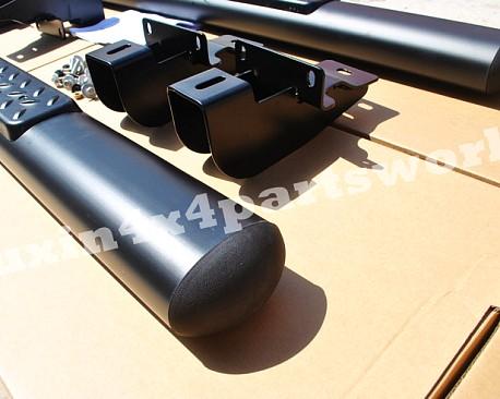 Picture of a Aluminium Running Board Side Steps Black for 2-Door Jeep Wrangler JK (Set)