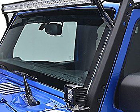 """Picture of a 50"""" LED Light Bar Steel Upper Windshield Mounting Bracket"""