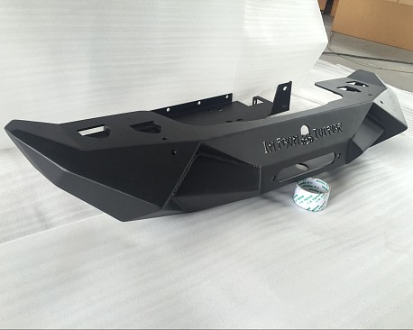 Picture of a Topfire Fury Style Front Bumper Material: Steel (Black Powder Coating)