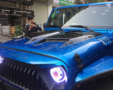 Picture of a Transformer Style steel Bonnet Front Hood Body Kit