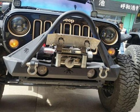 Picture of a JW0341 Poison Spyder Style Steel Front Winch Bull Bar