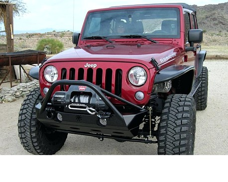 Picture of a JW0325 Poison Spyder Style Steel Front Winch Bull Bar