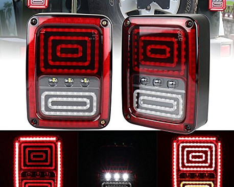 Picture of a Pair LED Tail Lights Rear Turning Break Light 0120