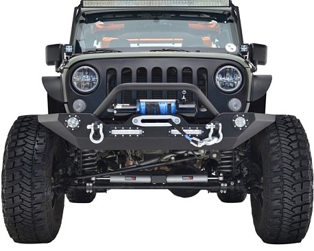 Picture of a JW0272 Style Steel Front Winch Bull Bar with LED lights