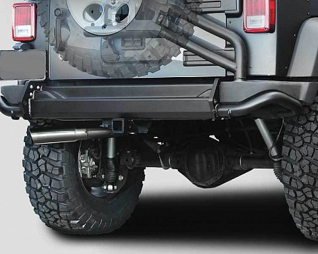 Picture of a AEV Style Steel Rear Bumper Bar With Spare Wheel Carrier