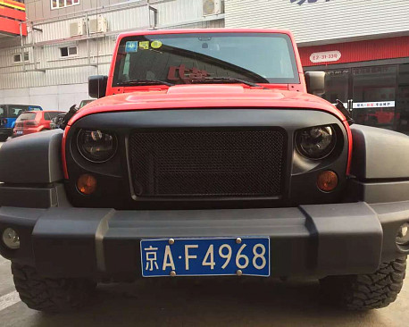 Picture of a Spartan Style Angry Grille Matte black
