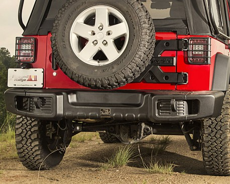 Picture of a Rugged Ridge Spartacus Style Rear Bumper Bar with Recovery Points