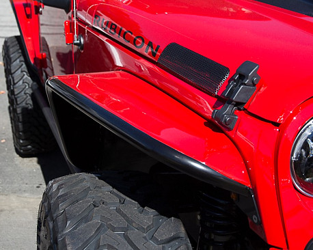 """Picture of a PS Style 8.75"""" Wide Alloy Front Fender Flares Guard"""