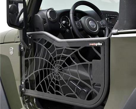 Picture of a 2-Door Spider Net Tubular Doors with Mirrors (Set of 2)