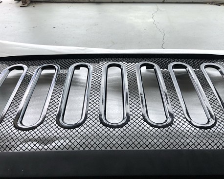Picture of a ABS Defender Style Front Grill Grille matte black
