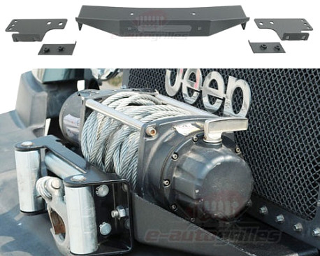 Picture of a Raised Winch Mounting Steel Plate for Factory Bumper