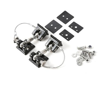 Picture of a Black Color Retro Style Bonnet lock Catch Kit
