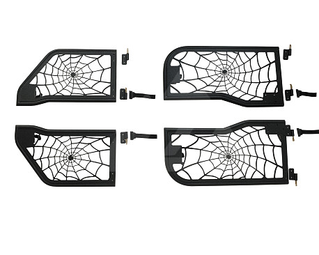 Picture of a 4-Door Spider Net Style Tubular Doors with Mirror (Set of 4)