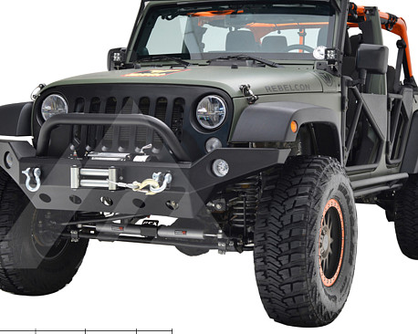 Picture of a JW0294 Style Steel Front Winch Bull Bar
