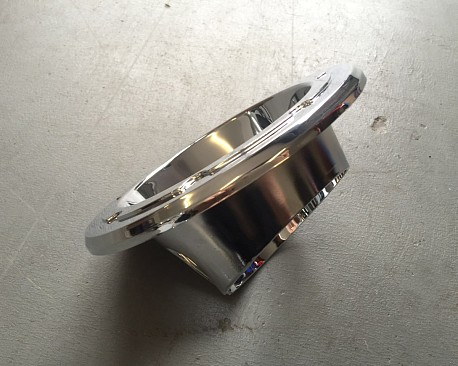 Picture of a Chrome Color Fuel Cover Base without cap