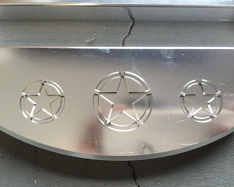 Picture of a Silver Aluminum Hawse Winch Fairlead Cover