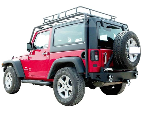 Picture of a 2 Door Jamboree Style Roof Rack Basket Body Mount