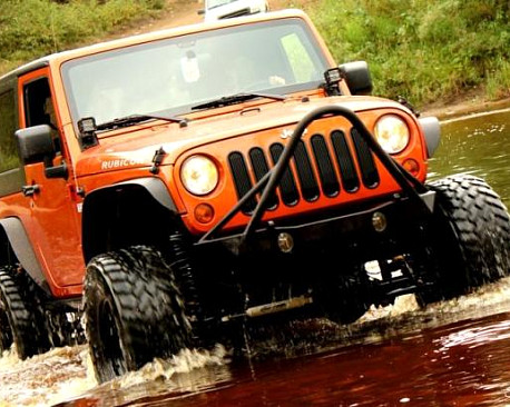Picture of a JW0324 Poison Spyder Style Steel Front Winch Bull Bar