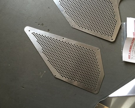 Picture of a Silver Color Front Fender Flares Insert Inner Decoration