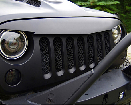 Picture of a Angry Bird Grille V-Shape Matte Black with Mesh