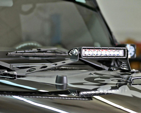 """Picture of a Hood Bonnet 20"""" LED Bar Mounting Kit"""