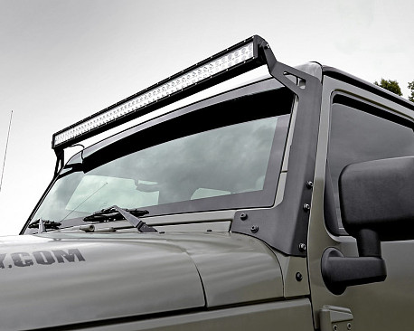 """Picture of a 50"""" LED Light Bar Upper Windshield Mounting Bracket"""