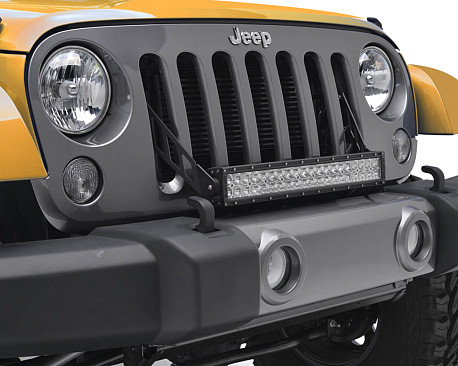 """Picture of a 20"""" LED Light Bar Bracket Mount Through Grille Grill"""