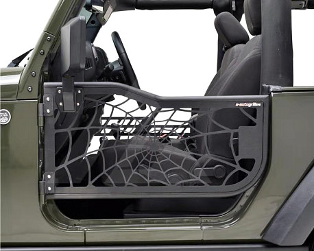 Picture of a 2-Door Spider Net Tubular Doors with Mirrors (Set of 2)