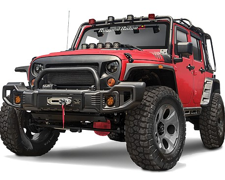 Picture of a Rugged Ridge Spartacus Style Style Steel Front Winch Bull Bar