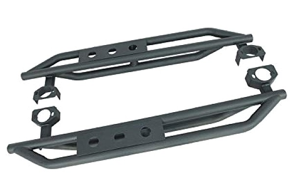 Picture of a Smittybilt Style Rock Sliders for 2-Door Jeep Wrangler JK Black-satin (Set)