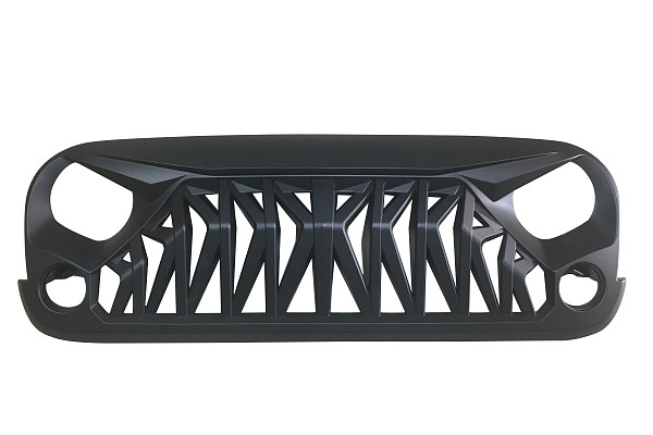 Picture of a ABS Armor Style High Flow Front Grill Grille matte black