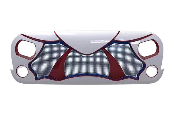 Picture of a ABS  Cobra Style High Flow Front Grill Grille matte black