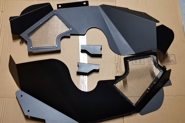 Picture of a Poison Spyder Style Inner Fender Kit (Black, Aluminium)