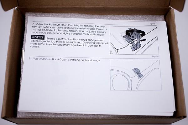 Picture of a Heavy Duty Bonnet Hood Lock Catch Kit (Grey)