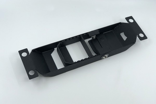 Picture of a Heavy Duty Door Hinge Side Foot Step Steel (Matte Black) Price for EACH