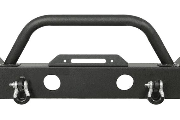 Picture of a Jeep Wrangler JK  Heavy Duty Premium  Style Bumper (Matte-Black, incl D-Shackles, Winch-compatible)