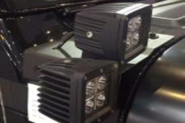 Picture of a Jeep Wrangler JL Dual Light Cowl bracket (LED Lights not included)