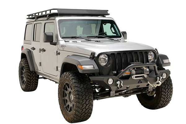 Picture of a Jeep Wrangler 2019 JL Premium Front Bumper (Matte-Black, incl. Fog Lights)