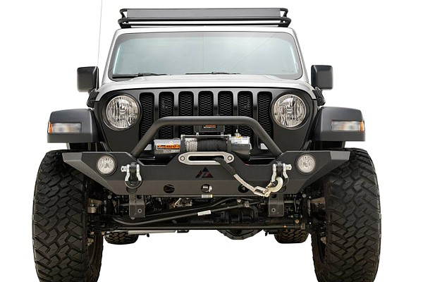 Picture of a Jeep Wrangler 2019~ JL Front Bull Bar