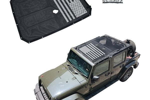 Picture of a Jeep Wrangler  JK 4 Door Shade Net J260-3